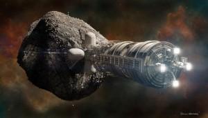Exploitation minière des astéroïdes Crédit: Bryan Versteeg / Spacehabs.com