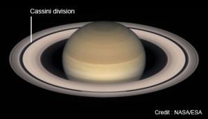 Division de Cassini sur les anneaux de Saturne Crédits: NASA/ESA