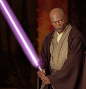 Le maître Jedi, Mace Windu et son fameux sabre laser