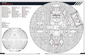 Plans de l'étoile de la mort de la saga Star Wars. Crédits: Starwars Wikia