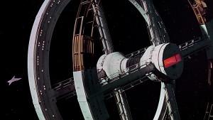 """Station orbitale du film """"2001 l'odyssée de l'espace"""" de Stanley Kubrick. Inspiré du roman d'Arthur C. Clarke"""