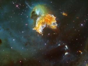 Rémanent de supernova N63A. (Crédit: NASA/Hubble)