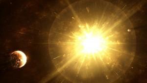 Vue d'artiste de l'explosion d'une supernova