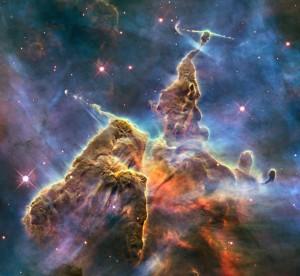 Détail de la nébuleuse de la Carène (Crédit: Hubble/NASA)