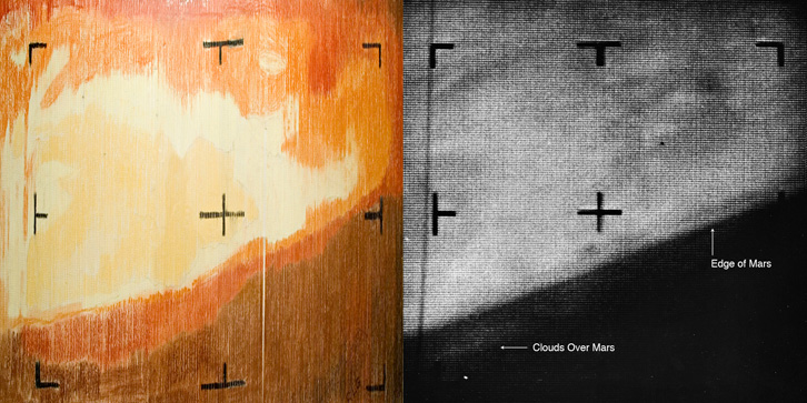 Comparaison entre la photo manufacturée et le rendu final par ordinateur. Crédit: JPL/Caltech